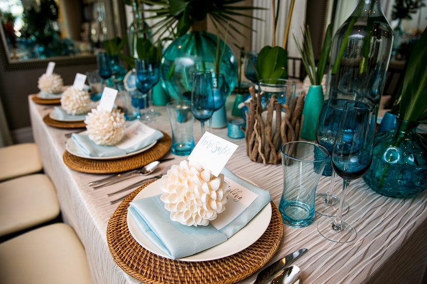 Waterfront Hilton Tablescape