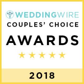 2018 WeddingWire Couples' Choice Award